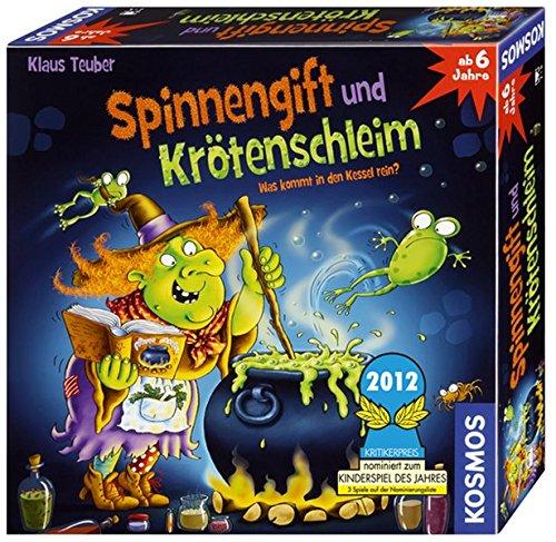 KOSMOS 698652 – Spinnengift und Krötenschleim: Was kommt in den Kessel rein? lustiges Merkspiel für 2 – 4 Spieler, Kinderspiel ab 6 Jahre