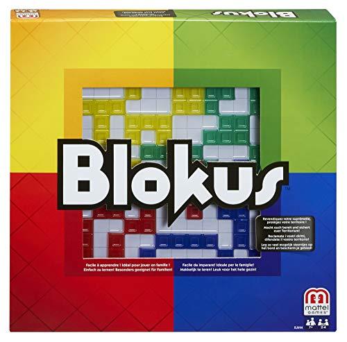 Mattel Games BJV44 – Blokus Strategiespiel und Gesellschaftsspiel, geeignet für 2 – 4 Spieler, Spieldauer ca. 20 – 40 Minuten, Brettspiele ab 7 Jahren