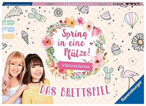 Ravensburger 26136 Familienspiele Spring in eine Pfütze-Das Brettspiel für Beste Freundinnen, Mehrfarbig