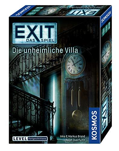 KOSMOS 694036 – EXIT – Das Spiel, Die unheimliche Villa, Level: Fortgeschrittene, Escape Room Spiel, für 1 bis 4 Spieler ab 12 Jahren, einmaliges Event-Spiel für Erwachsene und Kinder