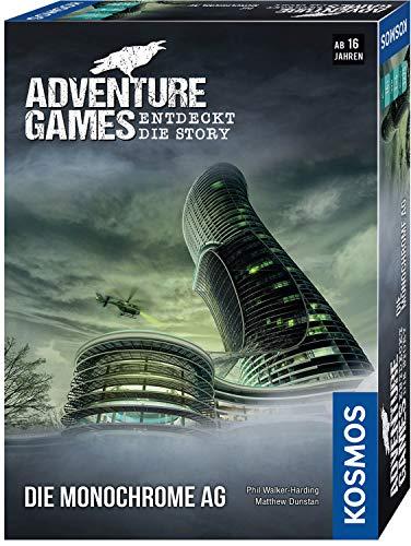 KOSMOS 695132 – Adventure Games – Die Monochrome AG. Entdeckt die Story Kooperatives Gesellschaftsspiel