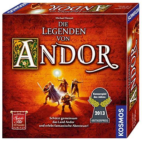 Kosmos 691745 – Die Legenden von Andor, Das Grundspiel, Kennerspiel des Jahres 2013, kooperatives Fantasy-Brettspiel ab 10 Jahren