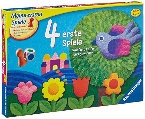 Ravensburger Kinderspiel 21417 – 4 erste Spiele – Spiel für Kinder ab 3 Jahren