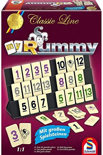 Schmidt Spiele 49282 – Classic Line MyRummy, Legespiel mit großen Spielsteinen
