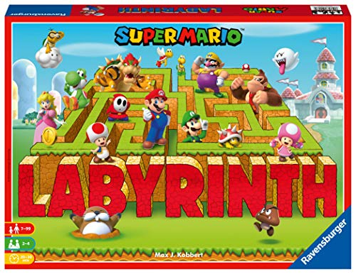 Ravensburger 26063 Familienspiele Super Mario Labyrinth, Mehrfarbig