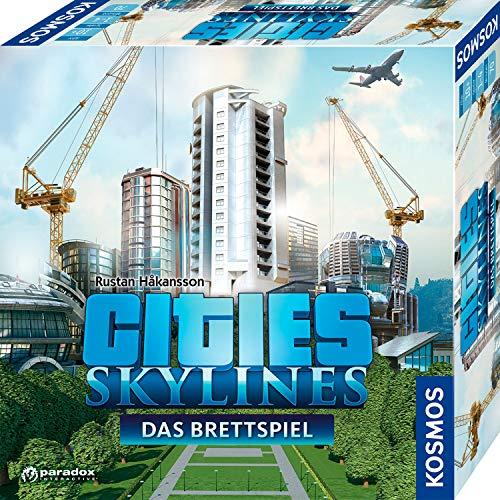 KOSMOS 691462 – Cities: Skylines, Das Brettspiel zum PC-Spiel, Für 1 bis 4 Spieler ab 10 Jahren