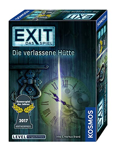 KOSMOS 692681 – EXIT – Das Spiel – Die verlassene Hütte, Kennerspiel des Jahres 2017, Level: Fortgeschrittene, Escape Room Spiel