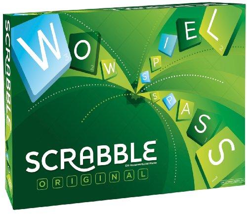 Mattel Games Y9598 – Scrabble Original Wörterspiel und Brettspiel geeignet für 2 – 4 Spieler, Familienspiele und Wortspiele ab 10 Jahren