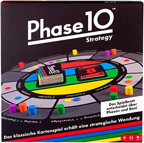 Mattel Games FTB29 Phase 10 Strategy Brettspiel, geeignet für 2 – 6 Spieler, Spieldauer ca. 60 – 90 Minuten, ab 7 Jahren