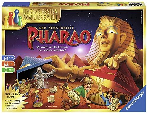 Ravensburger Gesellschaftsspiel 26656 – Der zerstreute Pharao – Familienspiel ab 7 Jahren