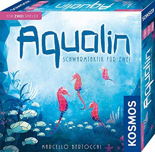 KOSMOS 691554 Aqualin – Schwarmtaktik für zwei, Brettspiel für 2 Spieler ab 10 Jahre