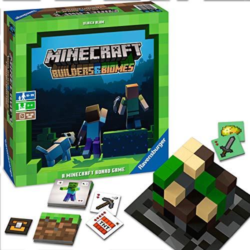 Ravensburger Gesellschaftsspiel 26132 – Minecraft Builders & Biomes – Spannendes Brettspiel ab 10 Jahren