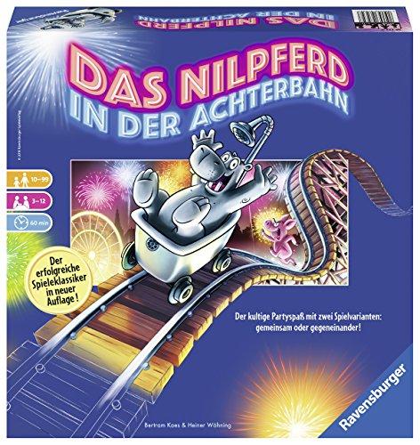 Ravensburger 26772 Familienspiele Das Nilpferd in der Achterbahn Spiel, bunt