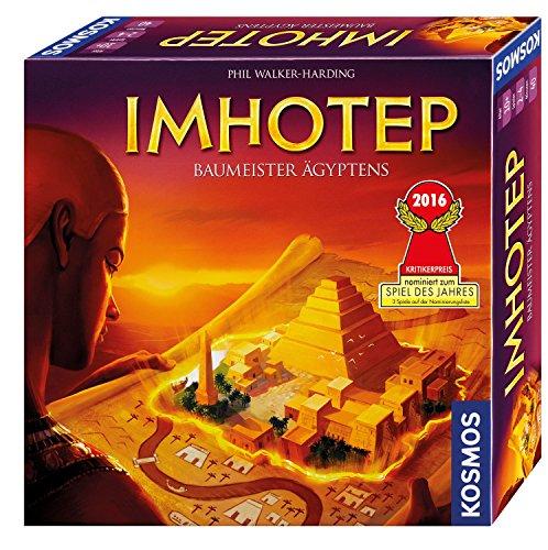 KOSMOS 692384 – Imhotep – Baumeister Ägyptens, das Grundspiel, Strategiespiel mit viel Interaktion und Spieltiefe, Brettspiel für 2 bis 4 Spieler, nominiert zum Spiel des Jahres 2016