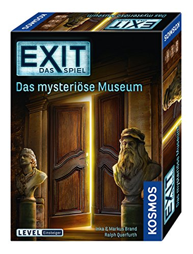KOSMOS 694227 – EXIT – Das Spiel, Das mysteriöse Museum, Level: Einsteiger, Escape Room Spiel, für 1 bis 4 Spieler ab 10 Jahren, einmaliges Event-Spiel für Erwachsene und Kinder