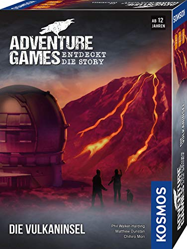KOSMOS 693169 – Adventure Games – Die Vulkaninsel, Entdeckt die Story, Kooperatives Gesellschaftsspiel für 1 bis 4 Spieler ab 12 Jahren, Abenteuer-Spiel