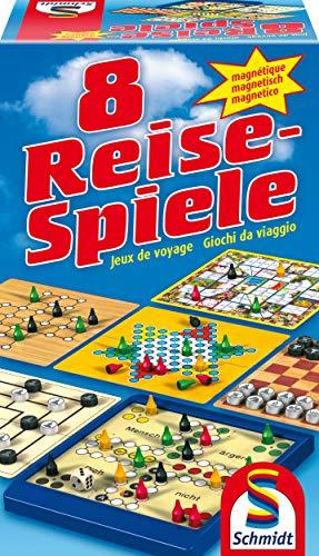 Schmidt Spiele 49102 – 8 Reise-Spiele, Spielesammlung, magnetisch, bunt