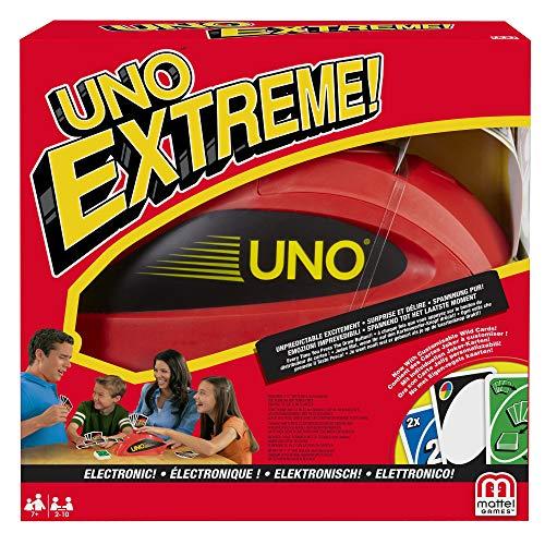 Mattel Games V9364 – UNO Extreme Kartenspiel, geeignet für 2 – 10 Spieler, Spieldauer ca. 15 Minuten, Gesellschaftsspiele und Kartenspiele ab 7 Jahren