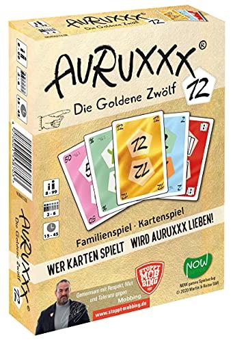 AURUXXX – Die Goldene 12 – Das spannende Kartenspiel für witzige Spieleabende für Jung und Alt. Eine unterhaltsame und pfiffige Geschenkidee als Familienspiel und Gesellschaftsspiel für Freunde.