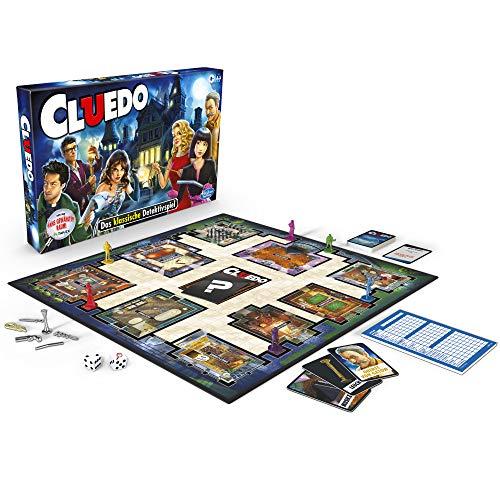 Cluedo 38712594 – spannendes Detektivspiel für die ganze Familie, klassisches Brettspiel ab 8 Jahren