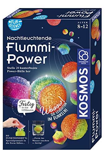 Kosmos 654108 Fun Science – Nachtleuchtende Flummi-Power, Stelle 20 kunterbunte Power-Bälle her, Experimentierset für Einsteiger: Experimentierkasten