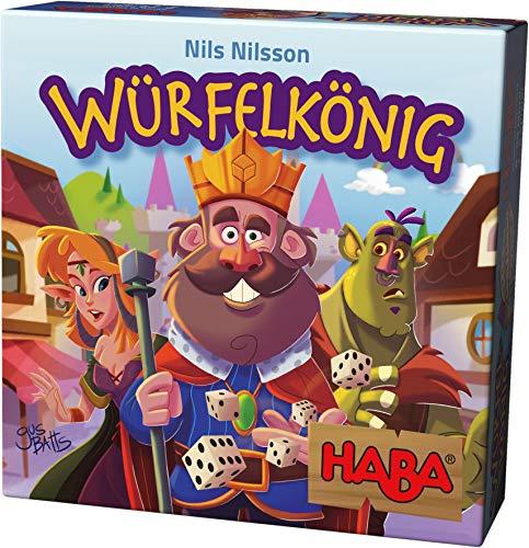 Haba 303485 – Würfelkönig, kniffeliges Zockerspiel für 2-5 Spieler ab 8 Jahren, spannendes Gesellschaftsspiel für die ganze Familie