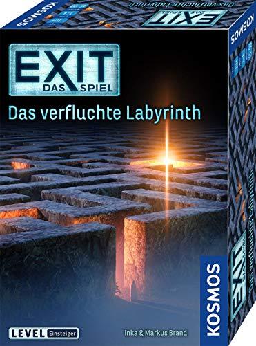 KOSMOS 682026 EXIT – Das Spiel – Das verfluchte Labyrinth, Level: Einsteiger, Escape Room Spiel, für 1 bis 4 Spieler ab 10 Jahre, einmaliges Event-Spiel, spannendes Gesellschaftsspiel