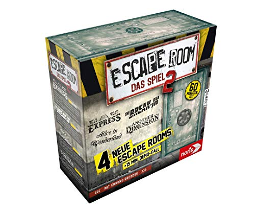 Noris 606101891 Escape Room 2 (Grundspiel) Familien und Gesellschaftsspiel für Erwachsene, inkl. 4 Fällen und Chrono Decoder, ab 16 Jahren