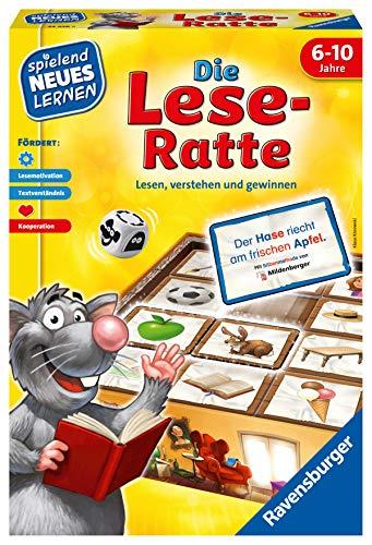 Ravensburger 24956 – Die Lese-Ratte – Spielen und Lernen für Kinder, Lernspiel für Kinder ab 6-10 Jahren, Spielend Neues Lernen für 1-4 Spieler
