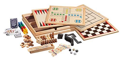 Philos 9960 – Holz-Spielesammlung mit 10 Spielmöglichkeiten