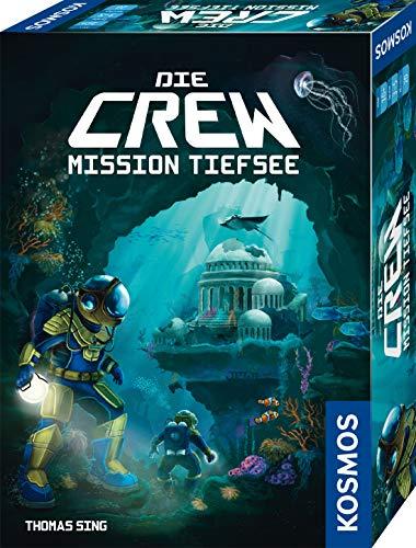 KOSMOS 680596 Die Crew – Mission Tiefsee, kooperatives Kartenspiel, für 3 bis 5 Spieler, mit Variante für Zwei Personen, Gesellschaftsspiel, Nachfolgerspiel des Kennerspiel des Jahres 2020 Die Crew